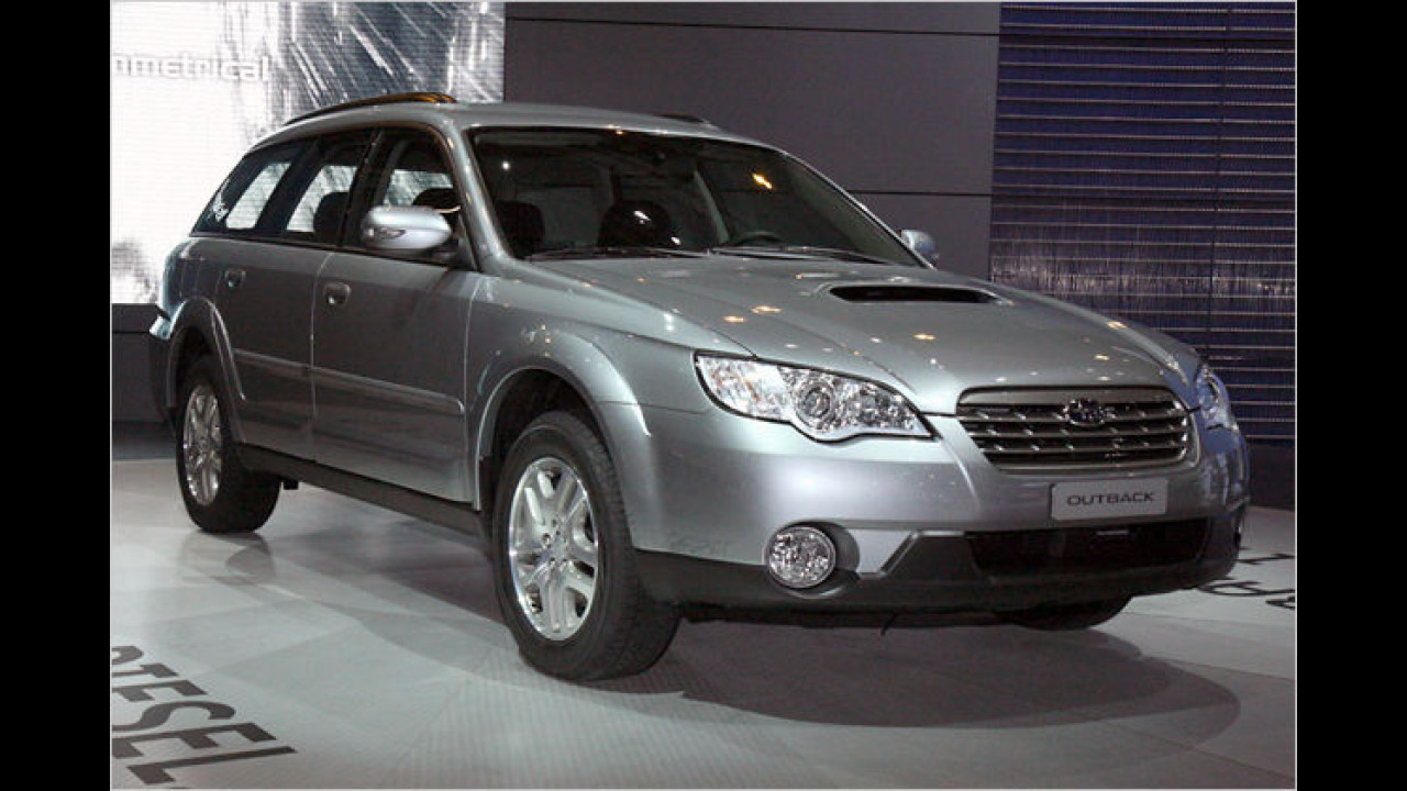 In den Subaru-Modellen Legacy und Outback feiert der erste Boxer-Diesel für Pkw seine Weltpremiere