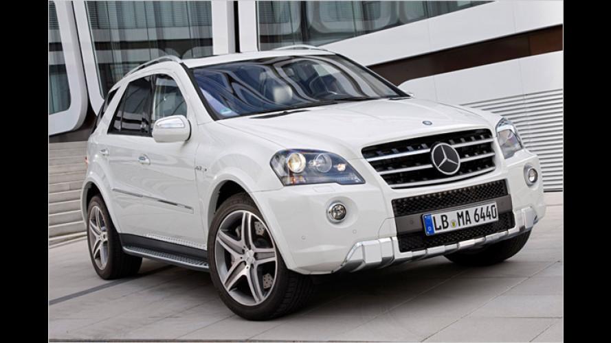 Feinschliff für den Boliden: Mercedes ML 63 AMG geliftet