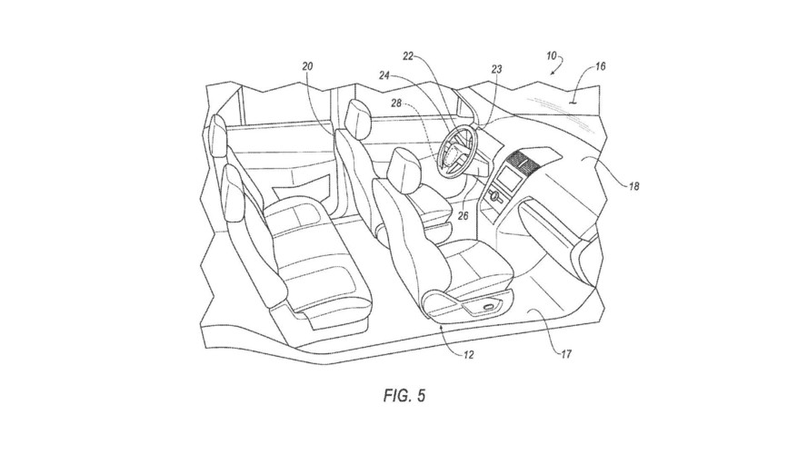 Ford Steering Wheel Pedal Patent