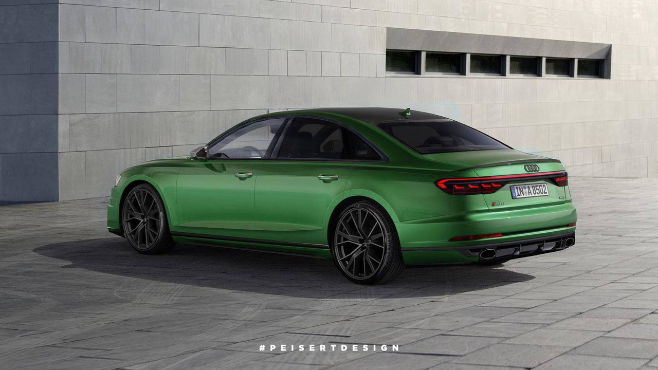Audi RS Rendering Looks Mean Is Green - Audi rs8