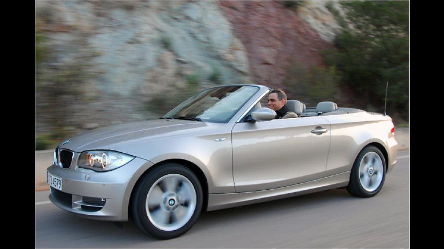 BMW 125i Cabrio (2008) im Test: Oben ohne zum Fahrspaßhöhepunkt