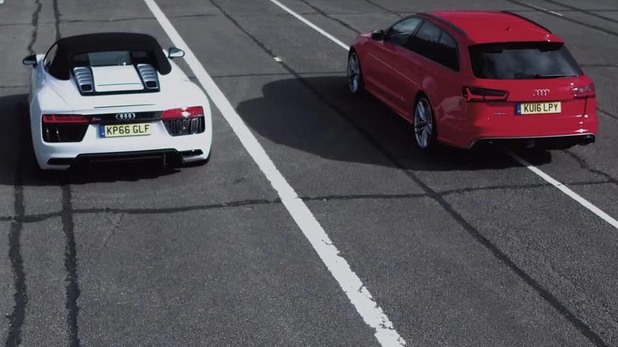 VIDÉO - Audi RS6 vs Audi R8 : laquelle est la plus rapide ?