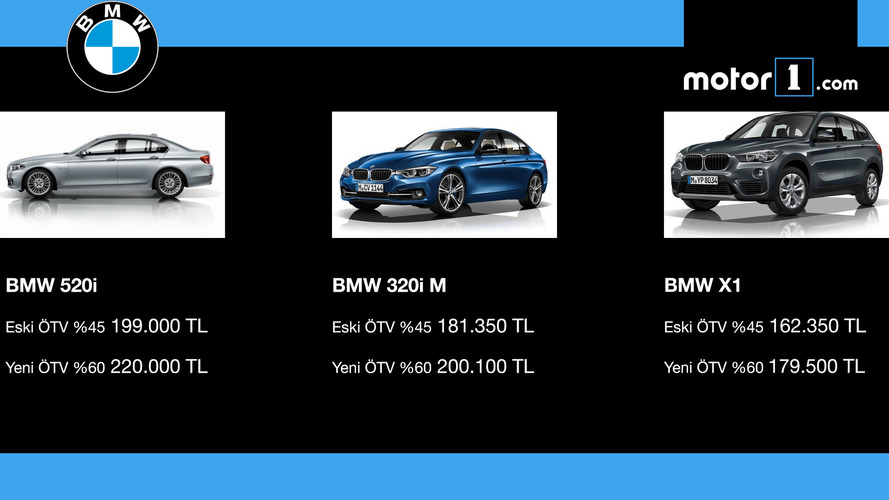 ÖTV'den etkilnen BMW modelleri