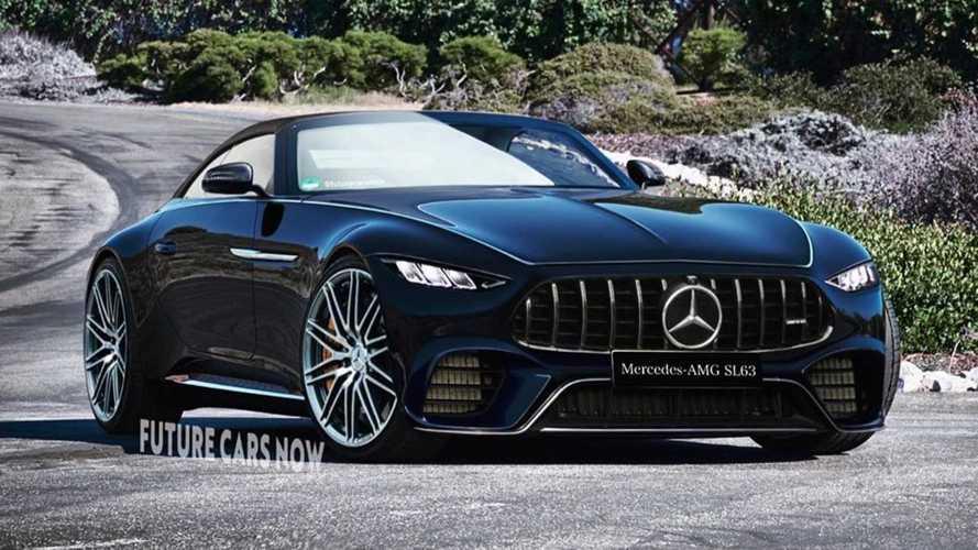 2022 Mercedes SL rendering previews the long due model revamp