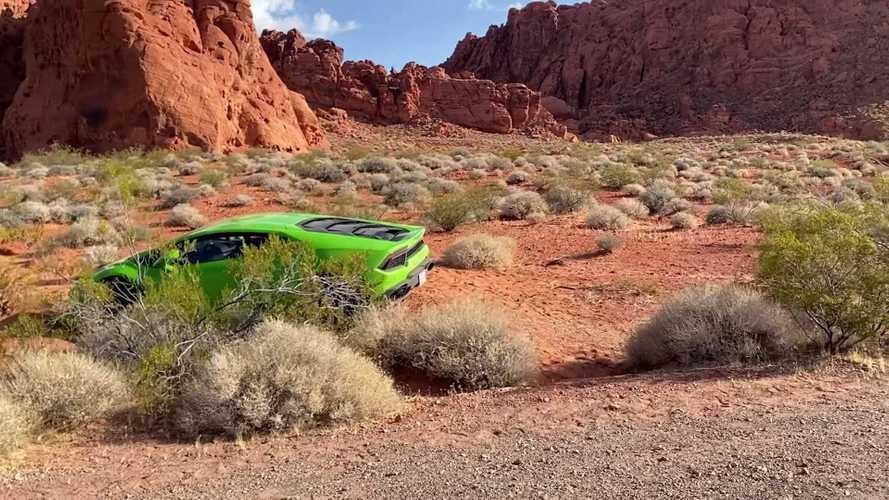 Une Lamborghini Huracán abandonnée dans le désert de Las Vegas