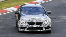 2021 BMW M5 facelift new spy photos