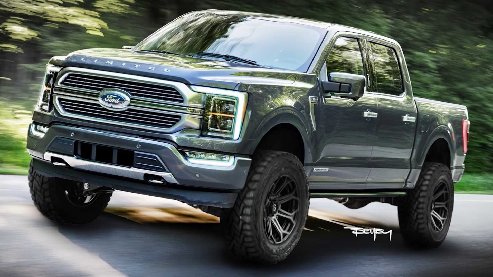 2021 ford f150 rendering gives new pickup an attractive