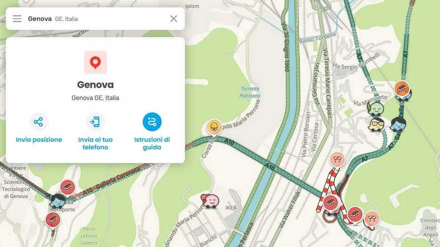 Ponte di Genova, le mappe Waze già aggiornate