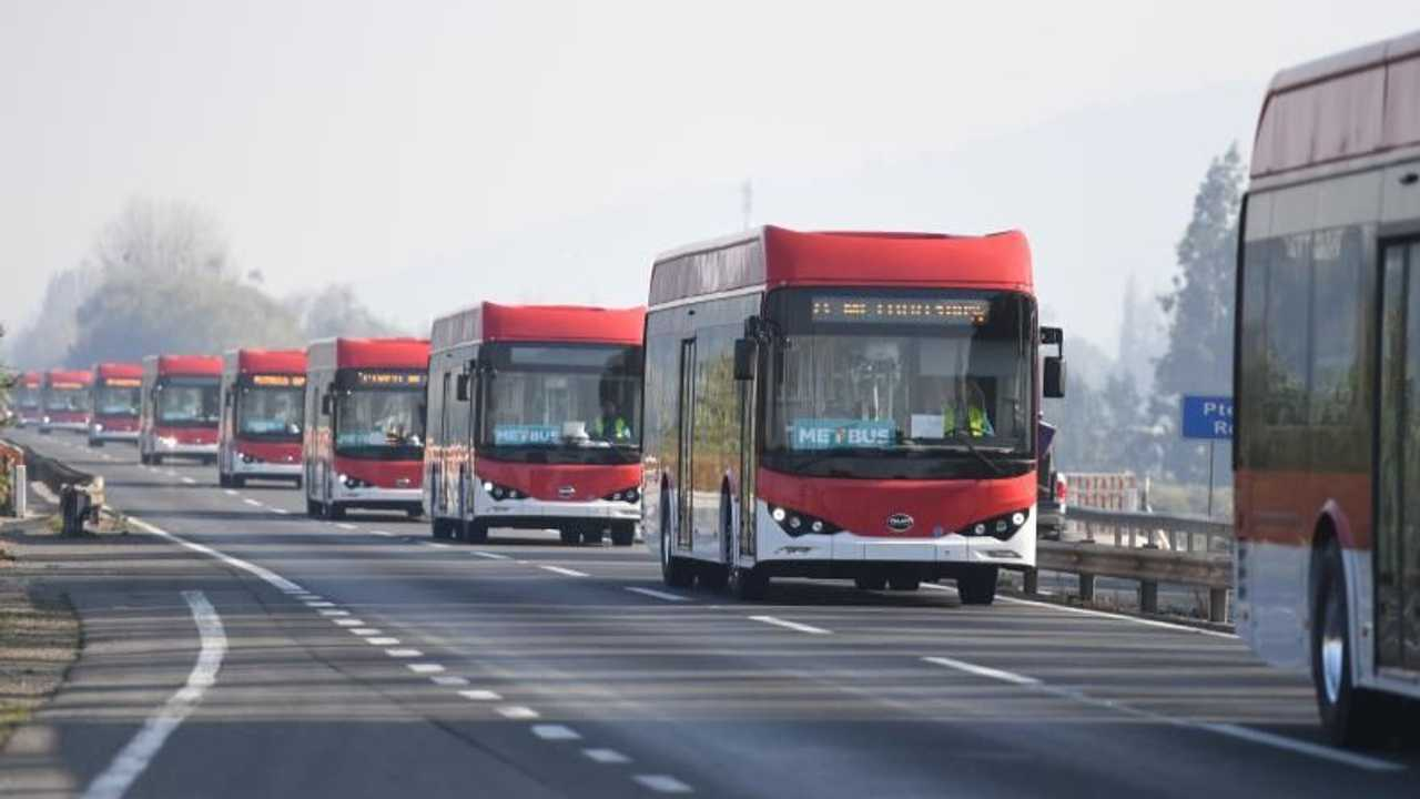 New BYD electric buses in Santiago, Chile - June 2020