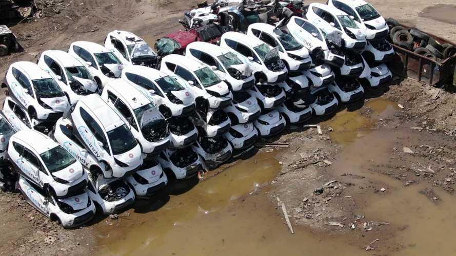Indianapolis: BlueIndy Car Sharing Closed, Many Cars End Up At Scrapyard