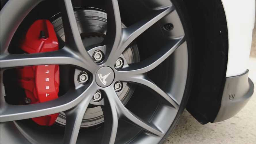 First Look At Tesla Model 3P Zero-G Wheels Compared To Track Pack Wheels