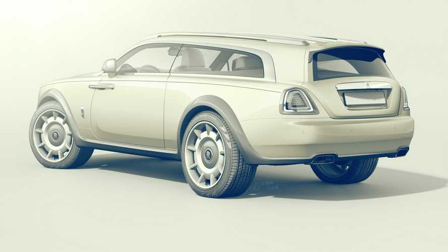 Rolls-Royce Wraith Shooting Brake Rendering Takes After The Spy Video