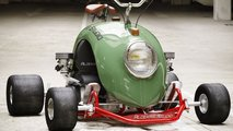 Go kart made from VW Beetle wing
