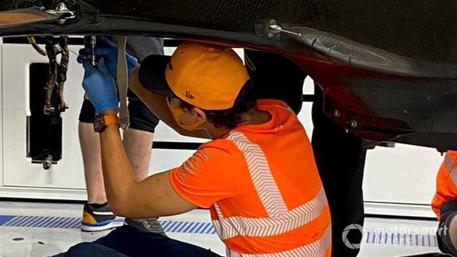 Norris explains McLaren car strip down picture