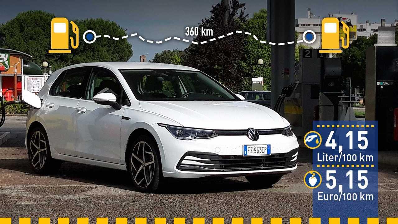VW Golf 8 (2020) im Verbrauchstest