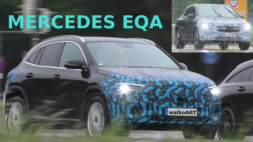 Mercedes-Benz EQA Test Vehicle Spotted In Motion