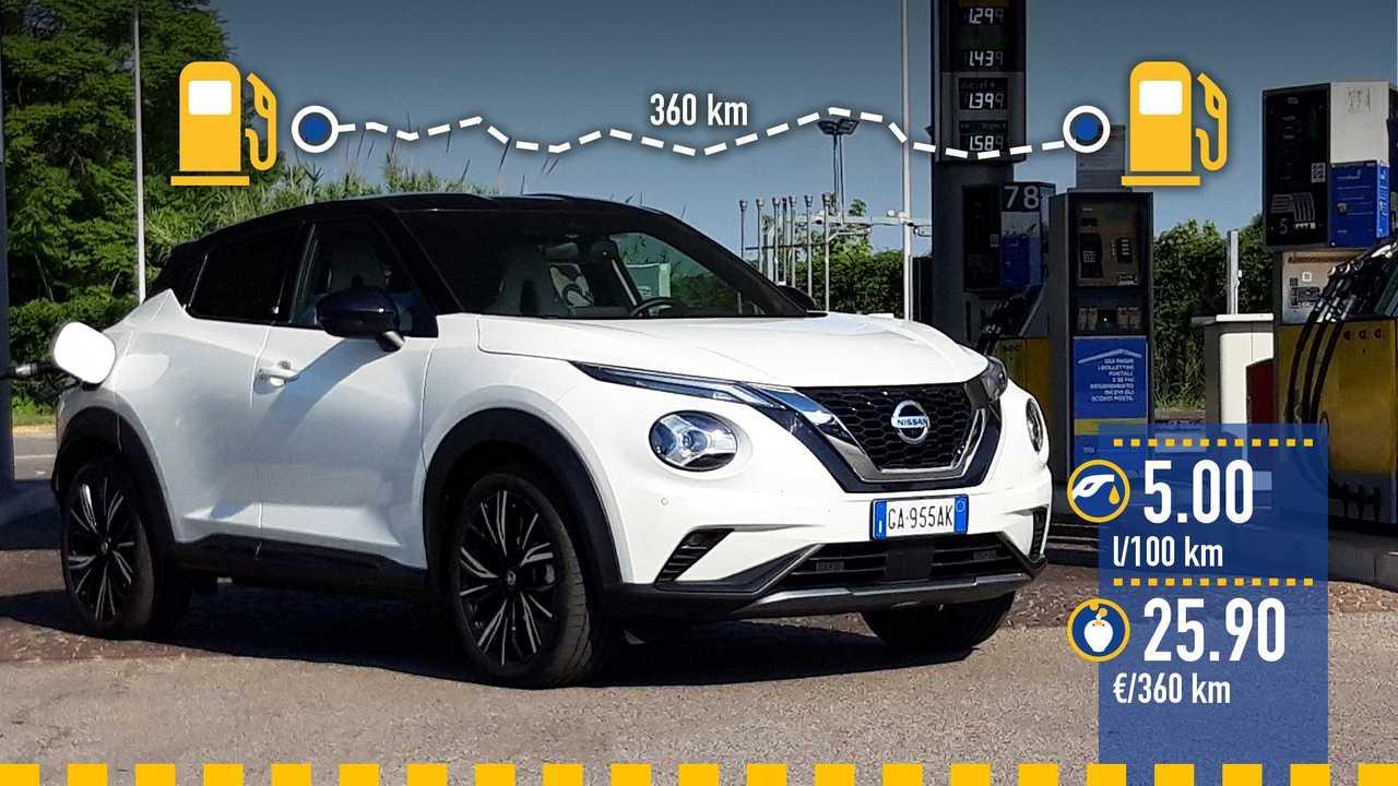 Nissan Juke, la prova consumi