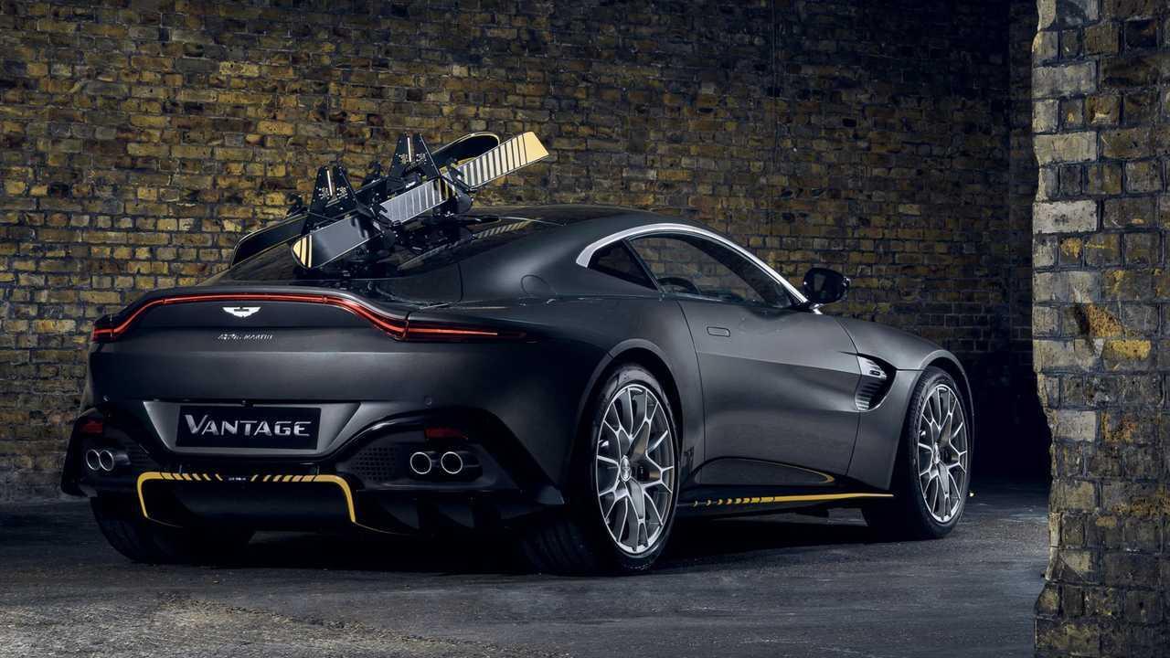 Aston Martin Vantage 007 Edition (2020): Das Heck mit Skiträger