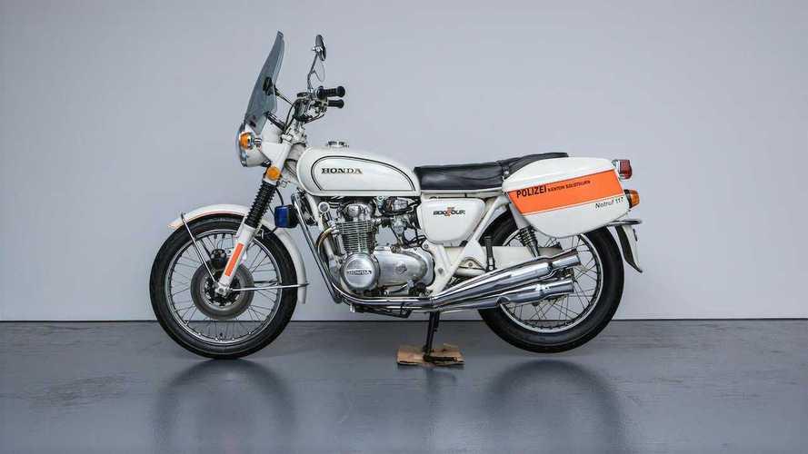 1977 Honda CB500 Swiss Police Bike