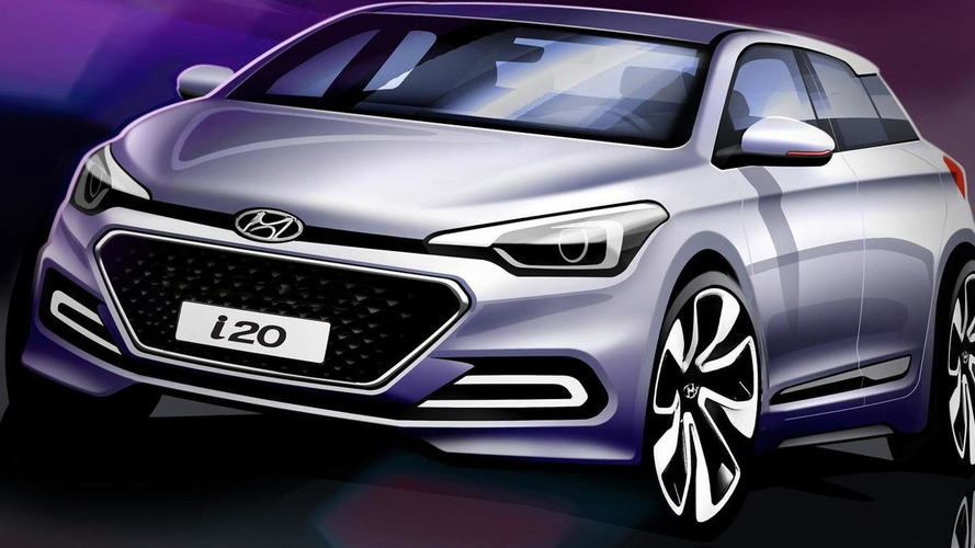 2015 Hyundai i20 teased in official design sketches