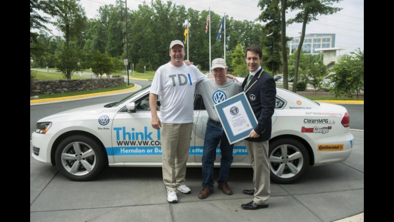 VW Passat TDI bate recorde ao fazer 33,22 km/l