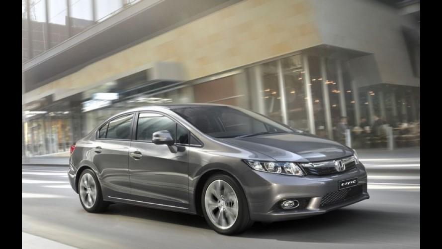 Honda Civic 2012 começa a ser vendido na Austrália com preços a partir de R$ 38.818