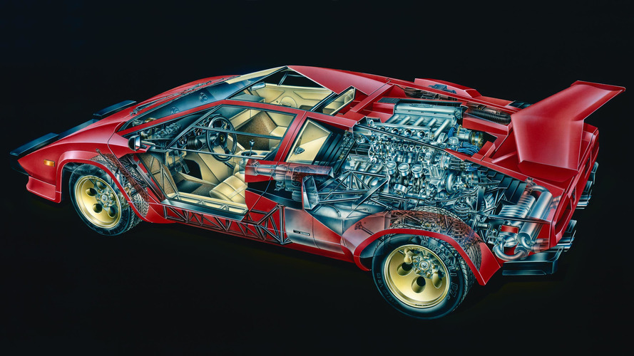 Go Inside The Lamborghini Countach With These 7 Cutaway Closeups