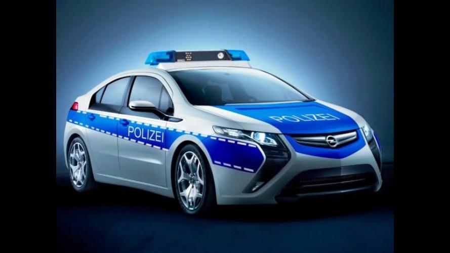 Opel Ampera em versão viatura policial