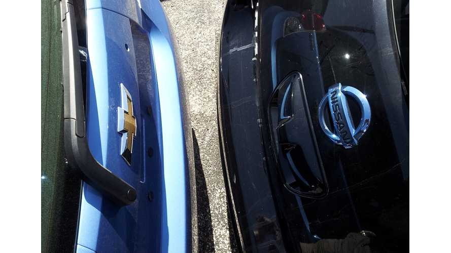 What's The Difference 0-30 MPH: 2014 Chevrolet Spark EV Vs 2012 Nissan LEAF  (videos)