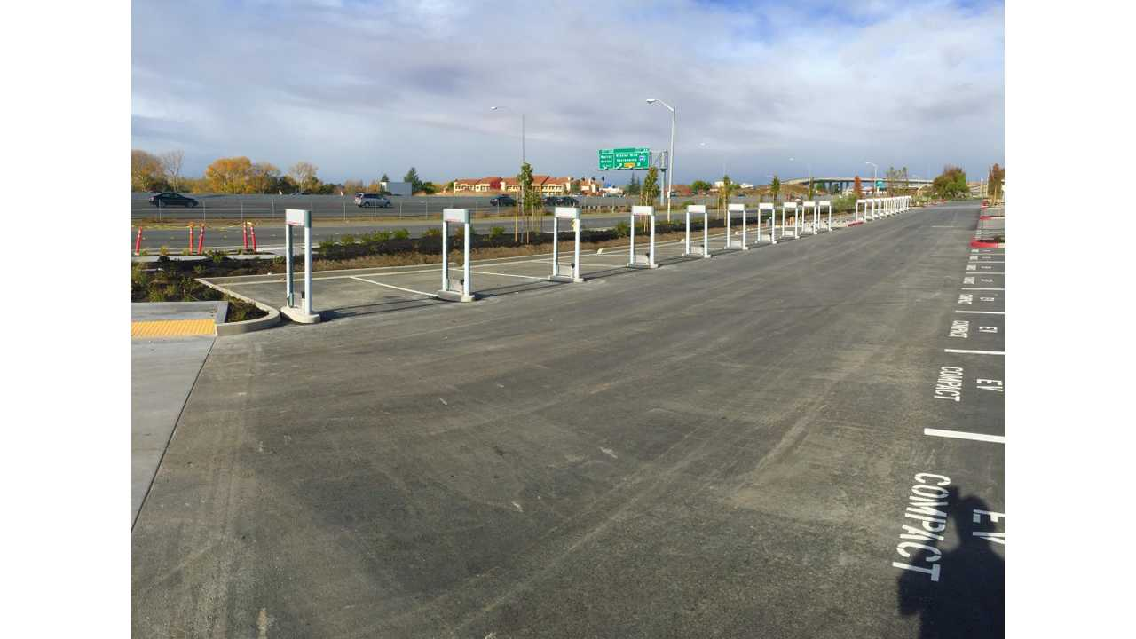 Tesla Working On Massive 20 Stall Supercharger