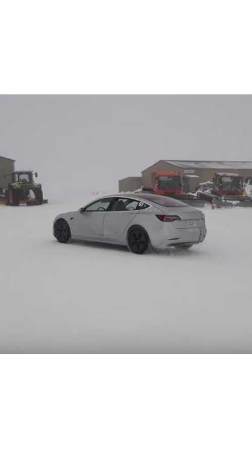 Tesla Model 3 Caught Snow Testing In New Zealand - Video