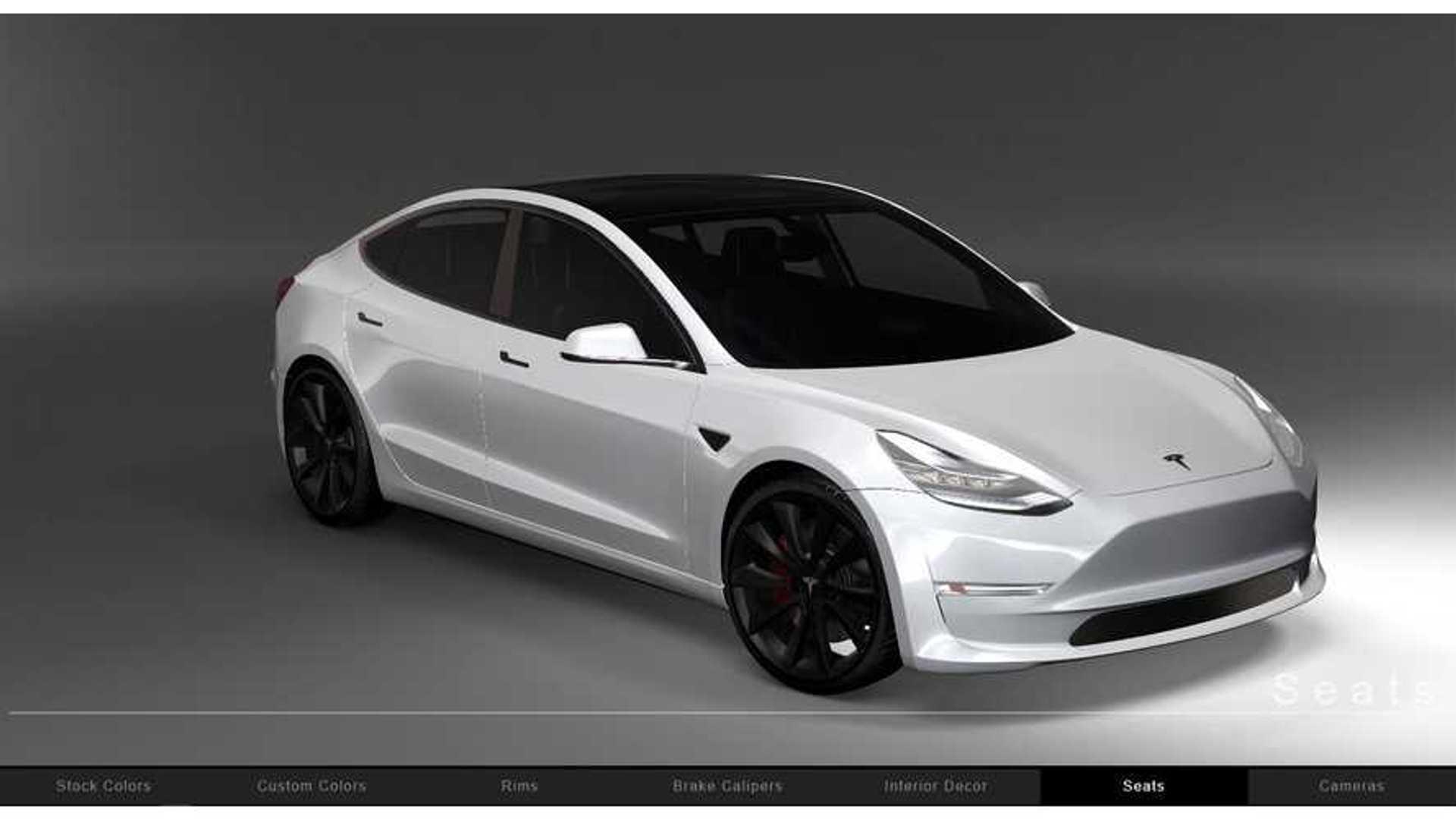 Interactive Tesla Model 3 Configurator Render Is Truly Amazing