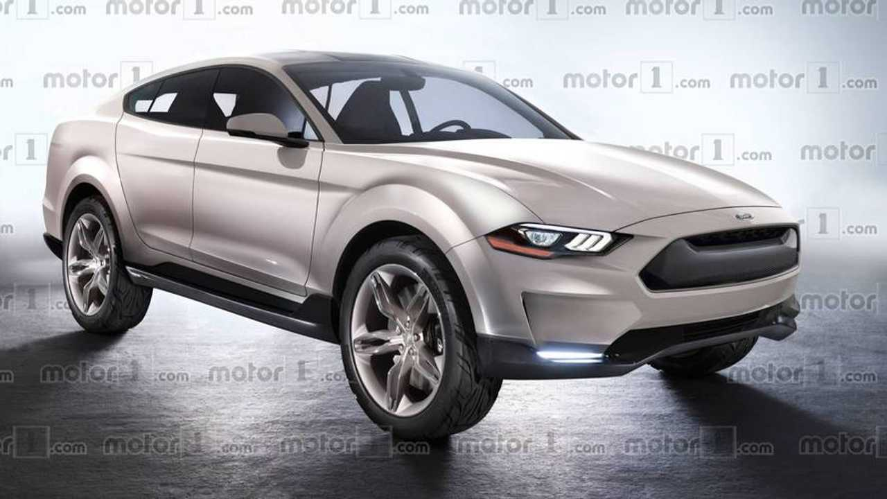 Rendered Ford Electric SUV