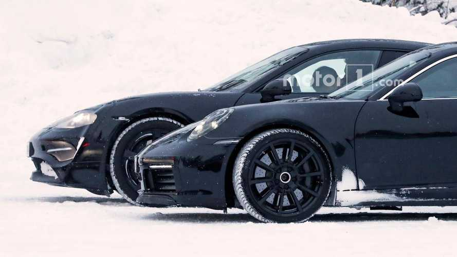 Porsche Takes Over Snowy Road To Test Mission E