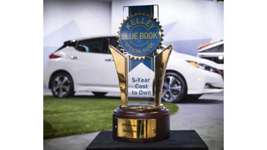 2018 Nissan LEAF Is KBB's 5-Year Cost-To-Own Winner Among EVs