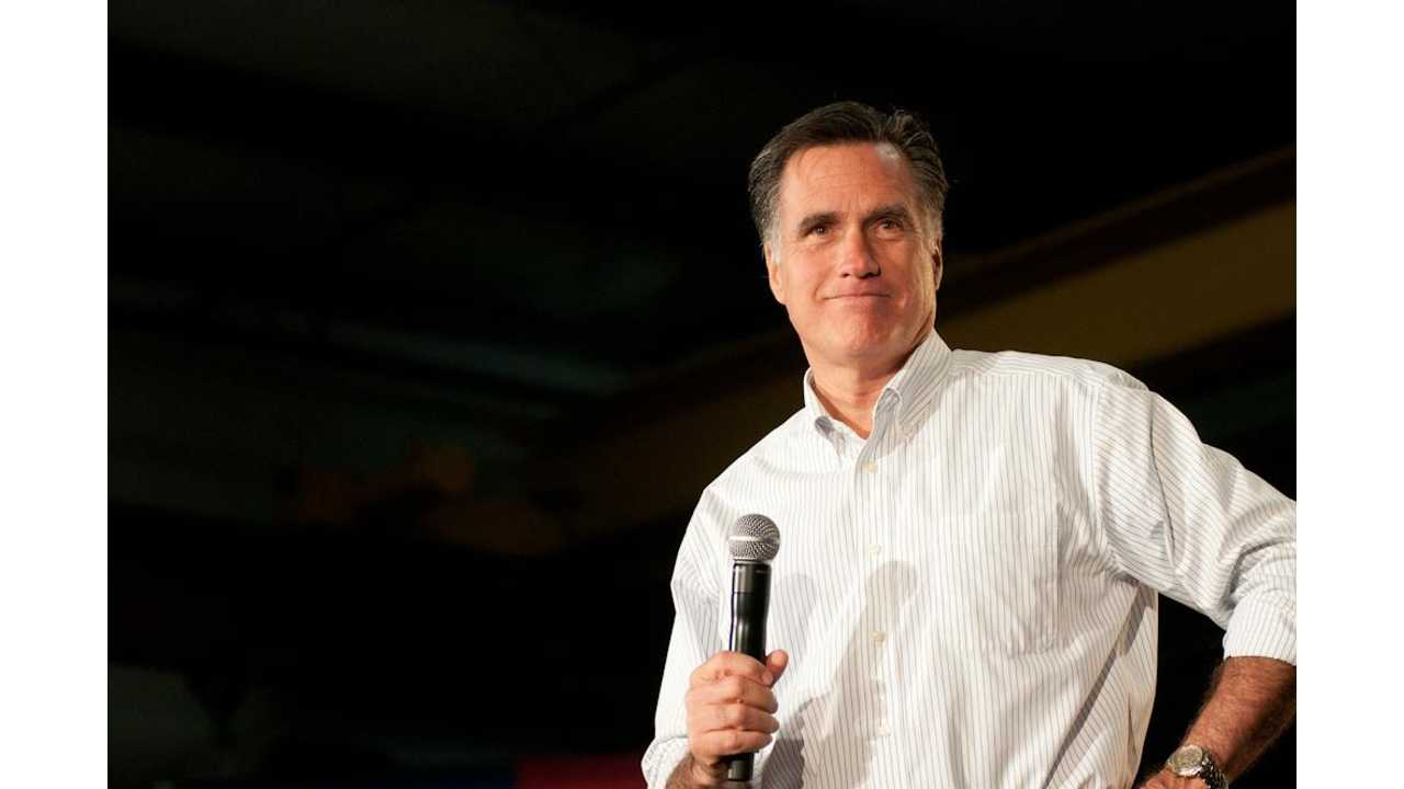 Mitt Romney is a proponent of positive environmental policy and the adoption of electric cars (Image Credit: <a href=
