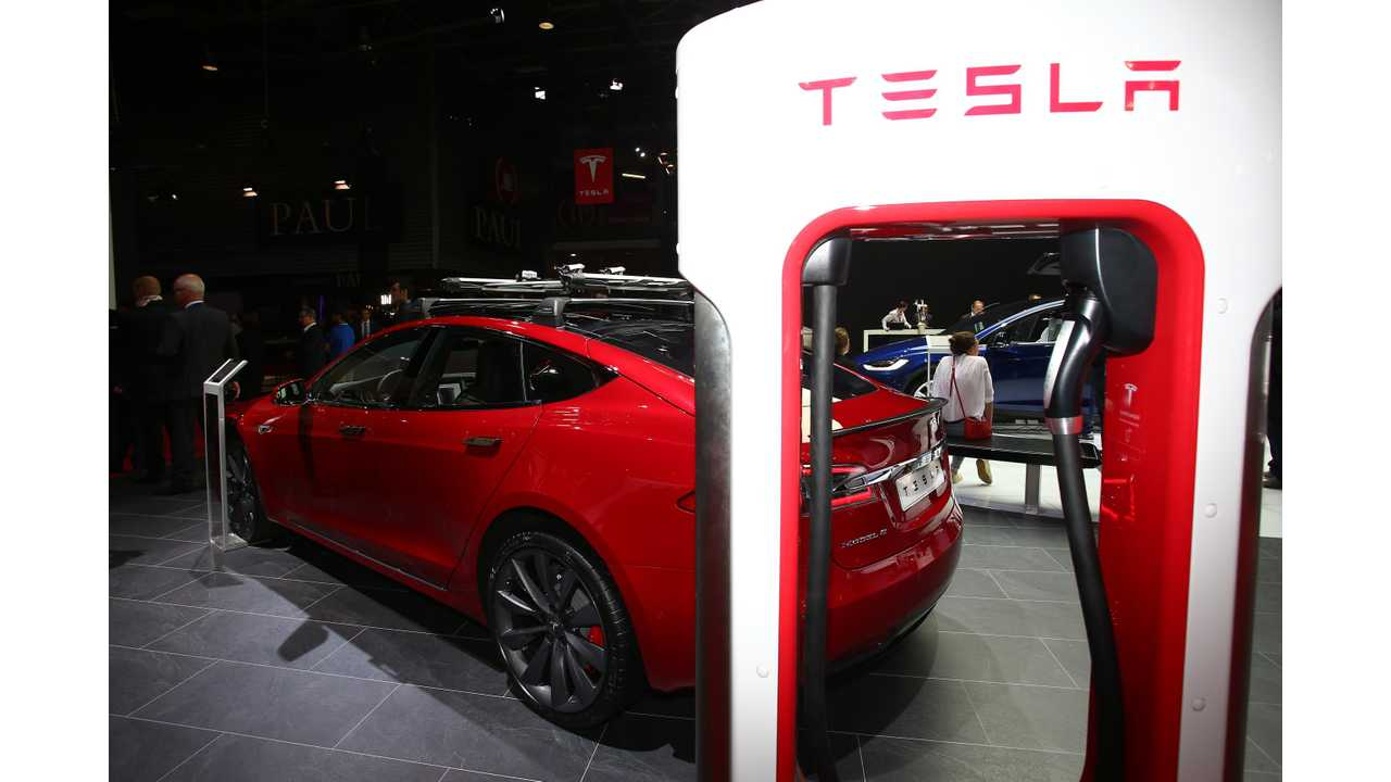 Tesla Model S is without sales equal in the US for 2016 (shown here from the 2016 Paris Motor Show)