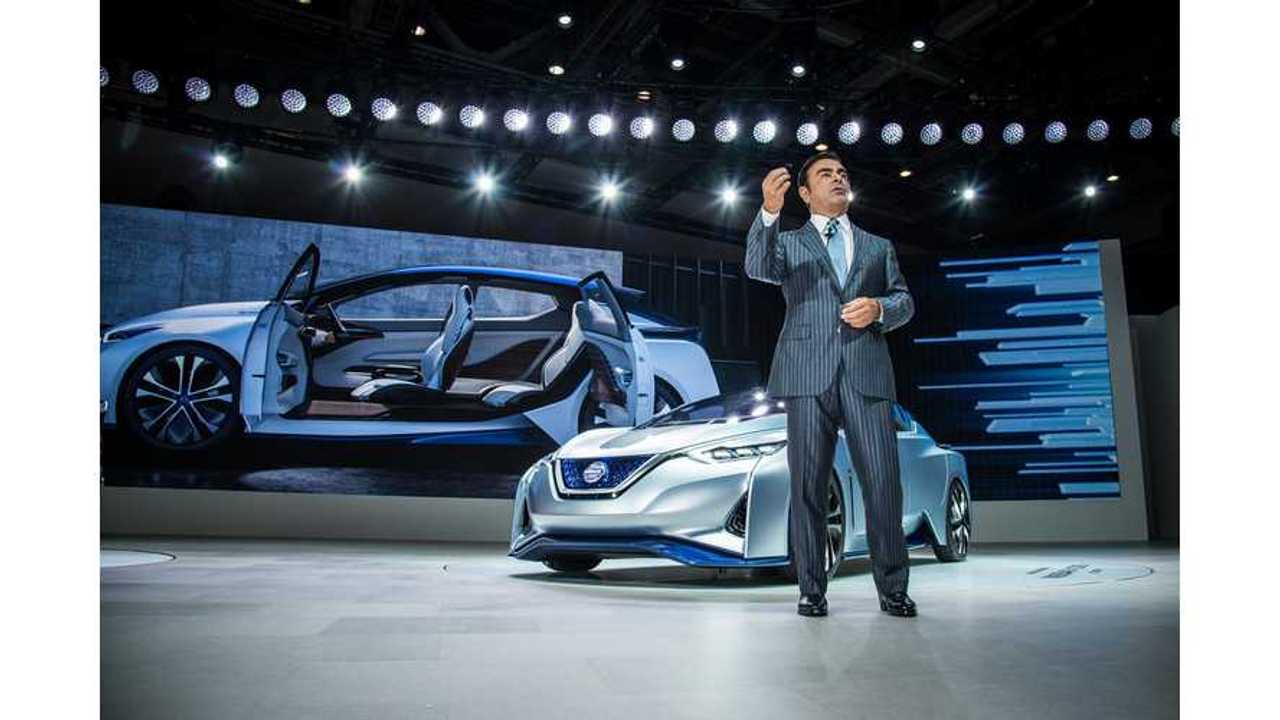 Nissan CEO Ghosn Welcomes Tesla Model 3 As