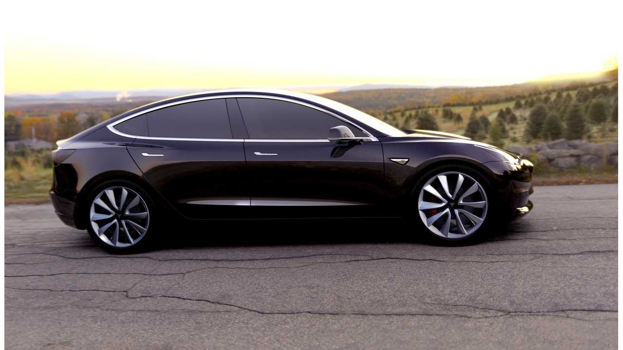 Tesla Model 3 Looking Optioned Out -- <strong>Also of note:</strong> <em>Elon Musk says demand is surprisingly high for matte black, will likely be an optional color for the Model 3</em>