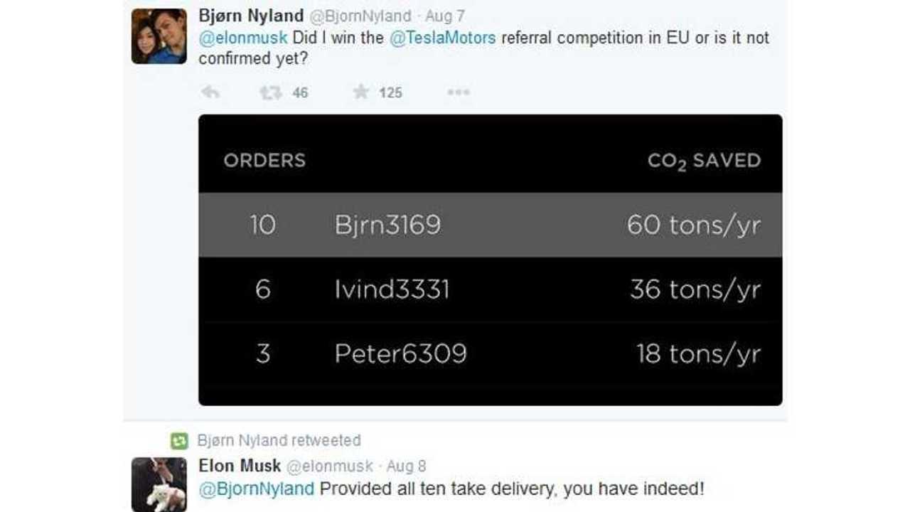 Bjorn Nyland Refers 10 Model S Buyers, Wins Free Model X