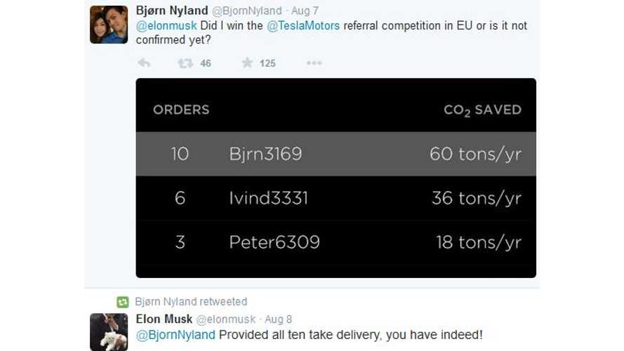 Bjorn Nyland Refers 10 Model S Buyers, Wins Free Model X