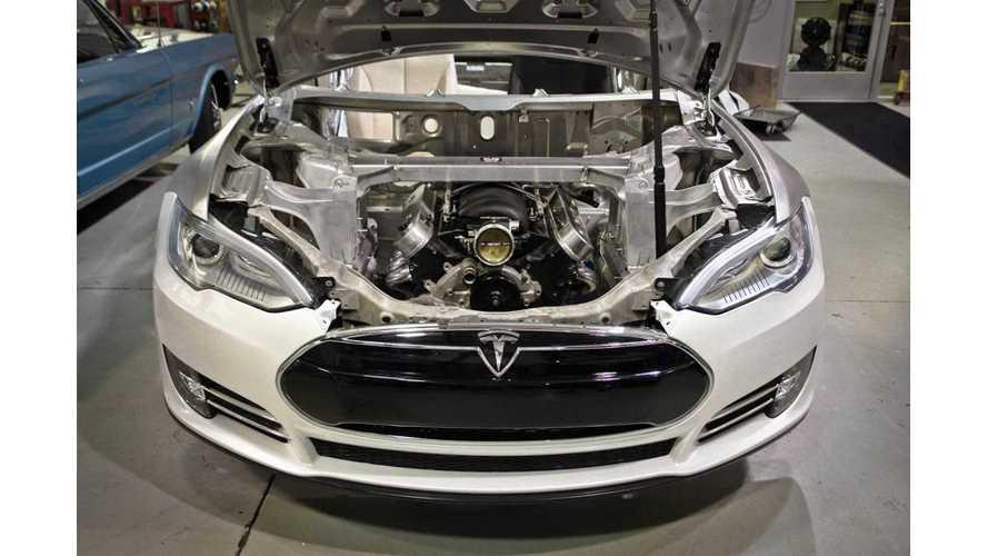 Tesla Model S Fitted With Chevrolet LS3 V8 Engine