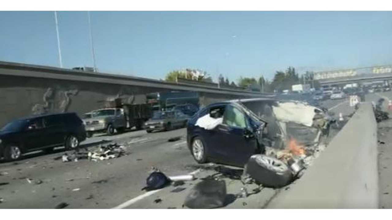 Tesla Puts Blame On Missing Barrier For Deadly Model X Crash