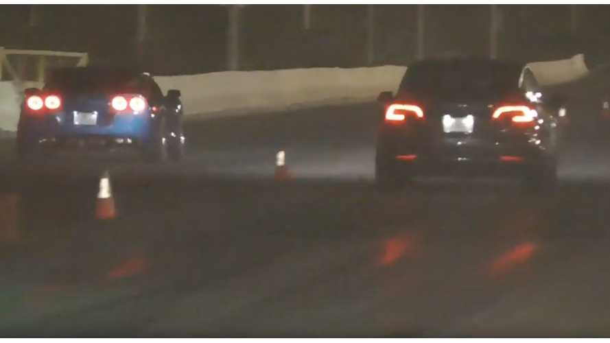 Watch Tesla Model 3 Performance Race Chevy Corvette With Slicks