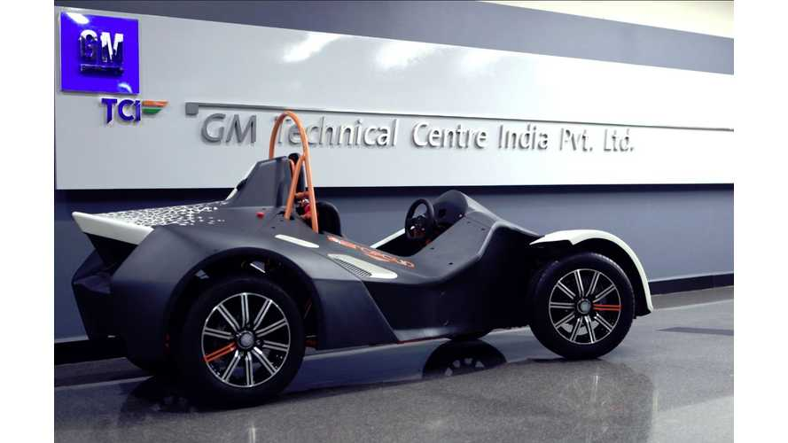 GM India Showcases Quirky Range Extended EV Concept