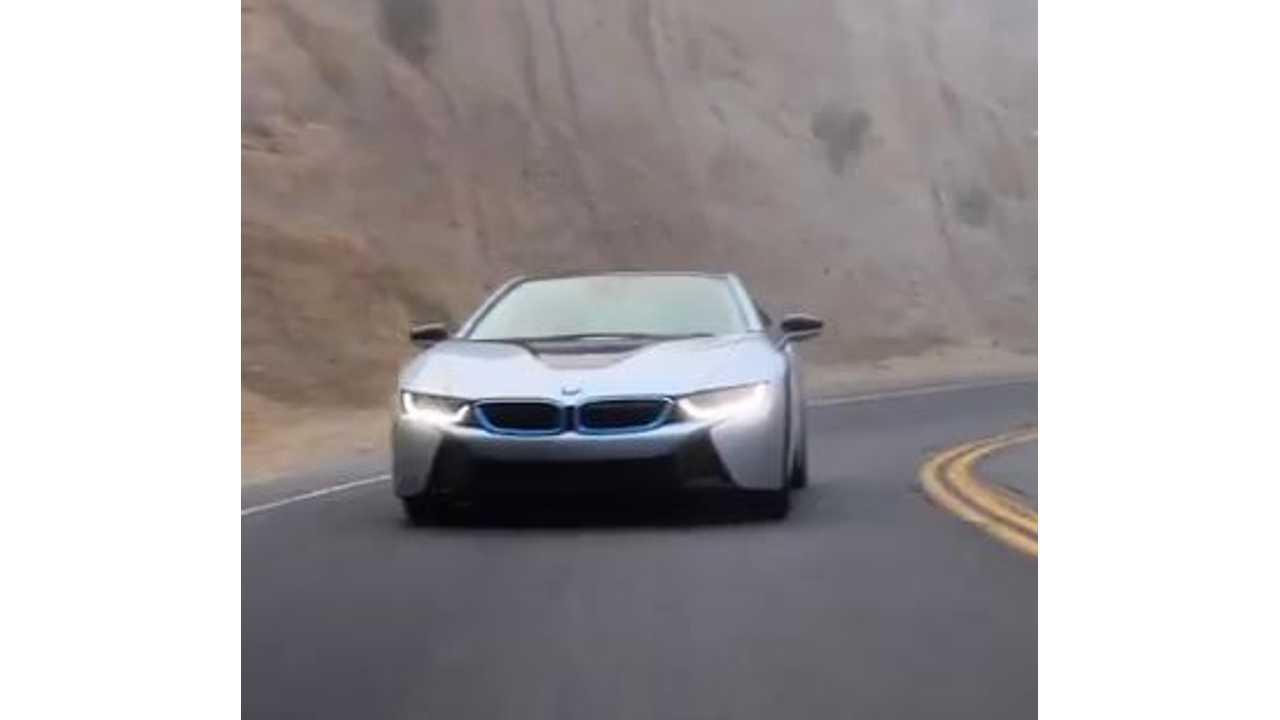 BMW i8 Carves Up Canyon Road - Video