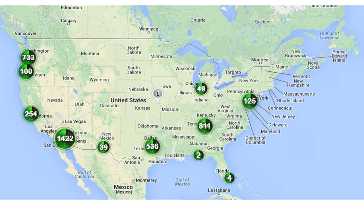 CarCharging Reports 5,500 Level 2 and 117 DC Fast Chargers Installed