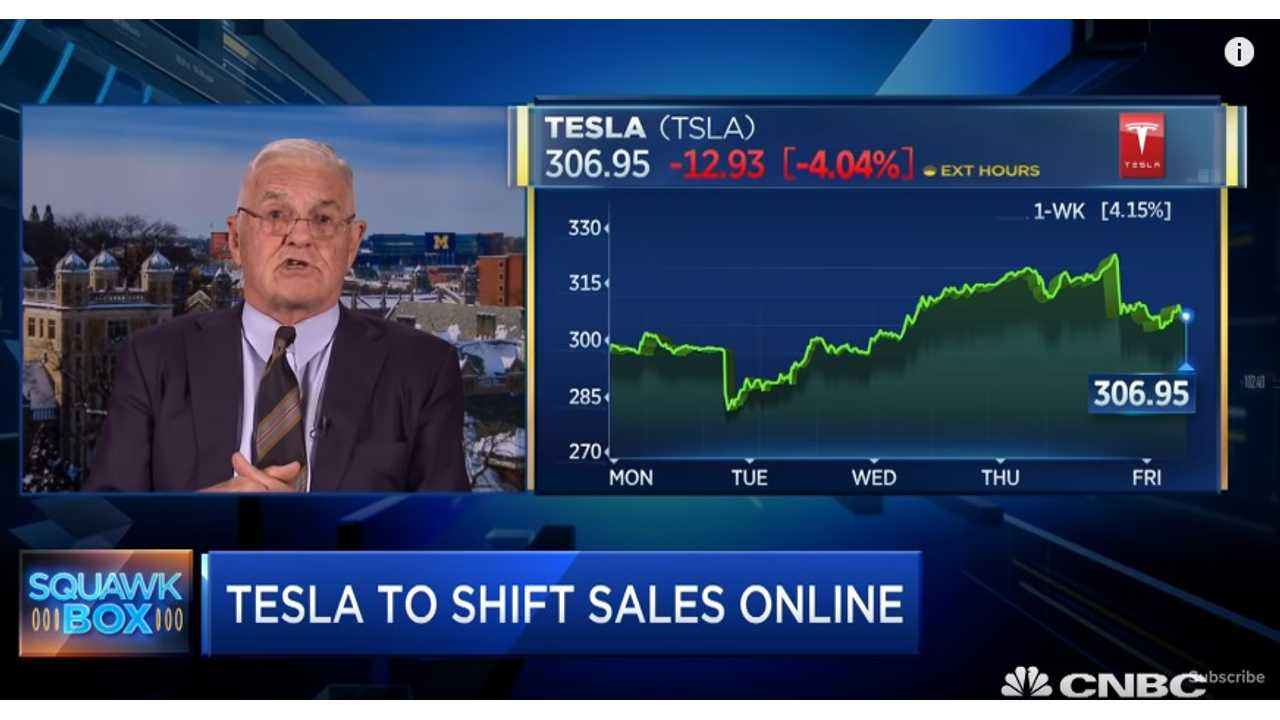 Bob Lutz On Tesla Online Sales: That's Not Gonna Work - Video