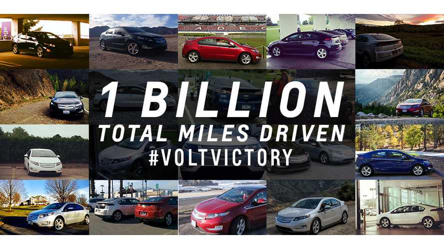 Chevrolet Celebrates Volt's 1 Billion Mile Milestone