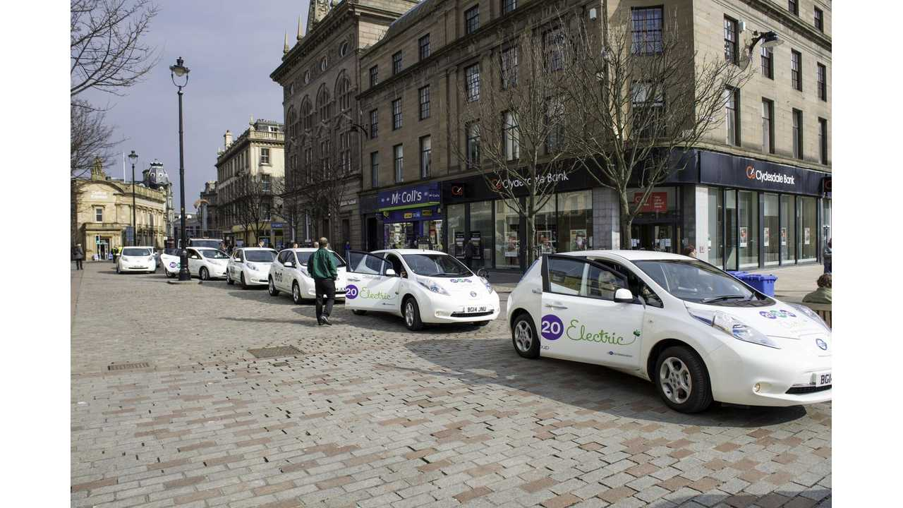 The fleet of Nissan LEAFs operated by 203020 Electric